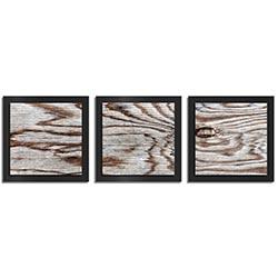 Adam Schwoeppe Weathered Wood Essence Black 38in x 12in Contemporary Style Wood Wall Art