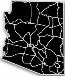 Arizona - Acrylic Cutout State Map - Black/Grey USA States Acrylic Art