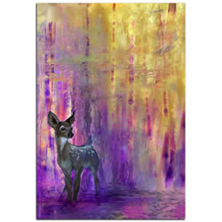 Urban Fawn - Contemporary Deer Art on Metal