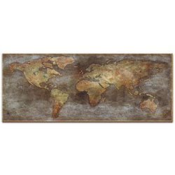 World Map Art 1800s Trade Routes Map - Old World Wall Decor on Metal or Acrylic