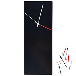 Metal Art Studio Minimalistic Decor Black Mod Clock 6in x 16in