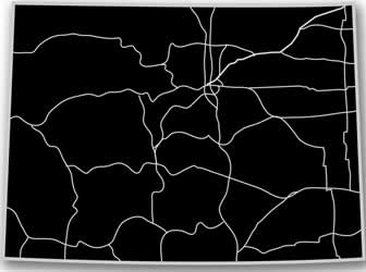 Colorado - Acrylic Cutout State Map - Black/Grey USA States Acrylic Art