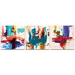 Abstract Wall Art Urban Triptych 2 Large - Urban Decor on Metal or Plexiglass