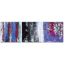 Abstract Wall Art Urban Triptych 4 - Urban Decor on Metal or Plexiglass