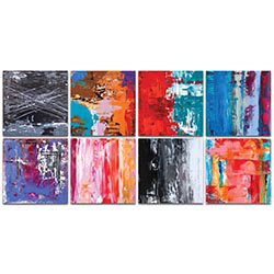 Abstract Wall Art Urban Windows - Urban Decor on Metal or Plexiglass