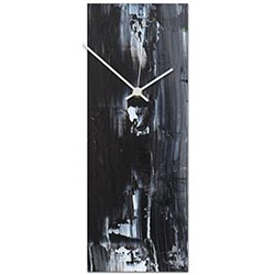 Urban Black Clock 6x16in. Metal
