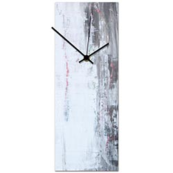 Urban White Clock 6x16in. Metal