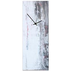 Urban White Clock Large 9x24in. Metal