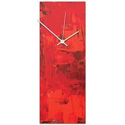 Urban Red Clock 6x16in. Metal