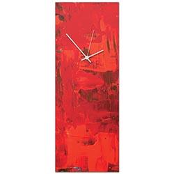 Urban Red Clock Large 9x24in. Metal