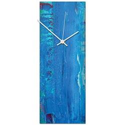 Urban Blue Clock 6x16in. Metal