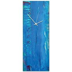 Urban Blue Clock Large 9x24in. Metal