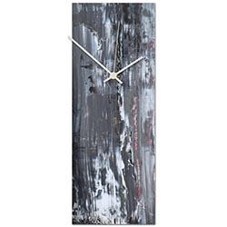 Urban Slate Clock 6x16in. Metal