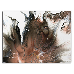 Elana Reiter Ashen 32in x 24in Contemporary Style Abstract Wall Art