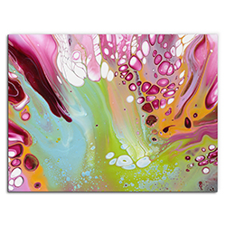 Elana Reiter Retro 32in x 24in Contemporary Style Abstract Wall Art