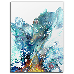 Elana Reiter Glacier 24in x 32in Contemporary Style Abstract Wall Art