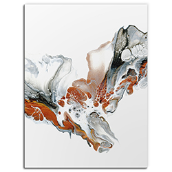 Elana Reiter Cascade 24in x 32in Contemporary Style Abstract Wall Art