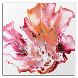 Elana Reiter Floral 36in x 36in Contemporary Style Abstract Wall Art