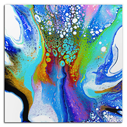 Elana Reiter Peacock 36in x 36in Contemporary Style Abstract Wall Art