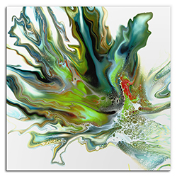 Elana Reiter Mossy 36in x 36in Contemporary Style Abstract Wall Art
