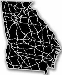 Georgia - Acrylic Cutout State Map - Black/Grey USA States Acrylic Art