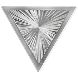 Helena Martin Starburst Angle 15in x 13in Modern Metal Art on Ground Metal