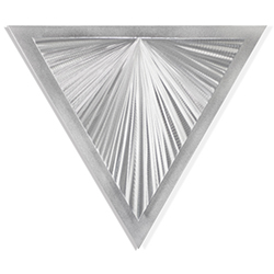 Helena Martin Shining Angle 15in x 13in Modern Metal Art on Ground Metal