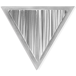 Helena Martin Linear Angle 15in x 13in Modern Metal Art on Ground Metal