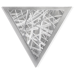 Helena Martin Thatched Angle 15in x 13in Modern Metal Art on Ground Metal