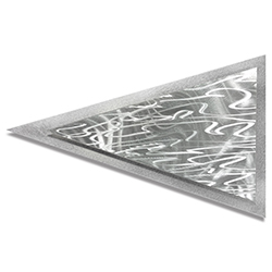 Helena Martin Currents Arrow 24in x 15in Modern Metal Art on Ground Metal