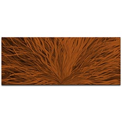 Helena Martin Blooming Brown 60in x 24in Original Abstract Art on Ground and Painted Metal