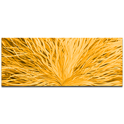 Helena Martin Blooming Gold 60in x 24in Original Abstract Art on Ground and Painted Metal