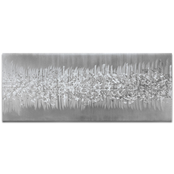 Helena Martin Static Silver 60in x 24in Original Abstract Art on Ground Metal