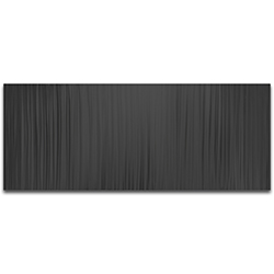 Helena Martin Black Lines 48in x 19in Original Abstract Metal Art on Ground and Painted Metal