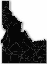 Idaho - Acrylic Cutout State Map - Black/Grey USA States Acrylic Art