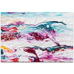 Abstract Wall Art Collateral Damage 2 - Colorful Urban Decor on Metal or Plexiglass