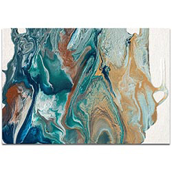 Abstract Wall Art Earth 2 - Urban Splatter Decor on Metal or Plexiglass