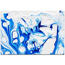 Abstract Wall Art Coastal Waters 3 - Colorful Urban Decor on Metal or Plexiglass