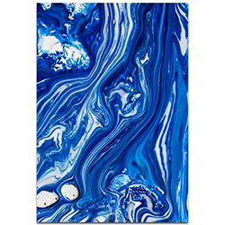 Abstract Wall Art Coastal Waters 6 - Colorful Urban Decor on Metal or Plexiglass