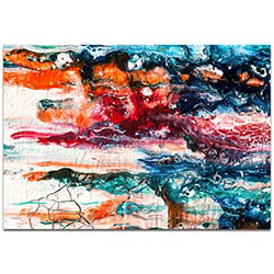 Abstract Wall Art Sunset On Her Breath 3 - Colorful Urban Decor on Metal or Plexiglass