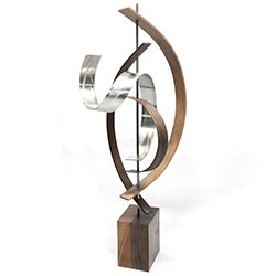 Jackson Wright Lift 10in x 29in Contemporary Style Modern Wood Sculpture