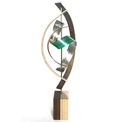 Jackson Wright Tranquil 10in x 29in Contemporary Style Modern Wood Sculpture