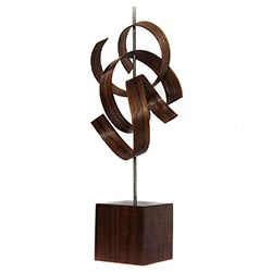 Jackson Wright Scribble 6in x 16in Contemporary Style Modern Wood Sculpture