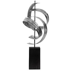 Jackson Wright Twist 8in x 17in Contemporary Style Modern Metal Sculpture
