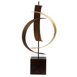 Jackson Wright Origin 8in x 16in Contemporary Style Modern Wood Sculpture