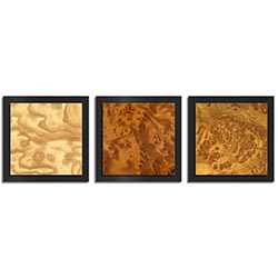Jackson Wright Array Burl Essence Black 38in x 12in Contemporary Style Wood Wall Art