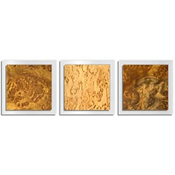Jackson Wright Flame Burl Essence White 38in x 12in Contemporary Style Wood Wall Art