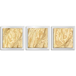 Jackson Wright Natural Burl Essence White 38in x 12in Contemporary Style Wood Wall Art