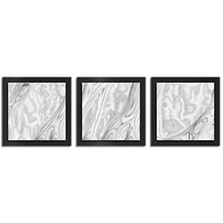 Jackson Wright Whitewash Burl Essence Black 38in x 12in Contemporary Style Wood Wall Art