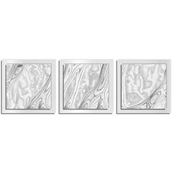 Jackson Wright Whitewash Burl Essence White 38in x 12in Contemporary Style Wood Wall Art